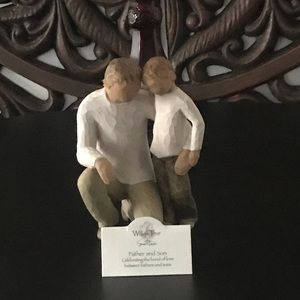 Willow tree father and son figurine